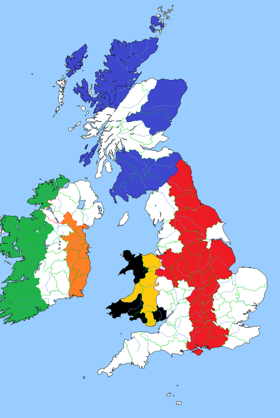 Britain And Ireland Flag Map By RoryTheLion On DeviantArt - Map of great britain and ireland