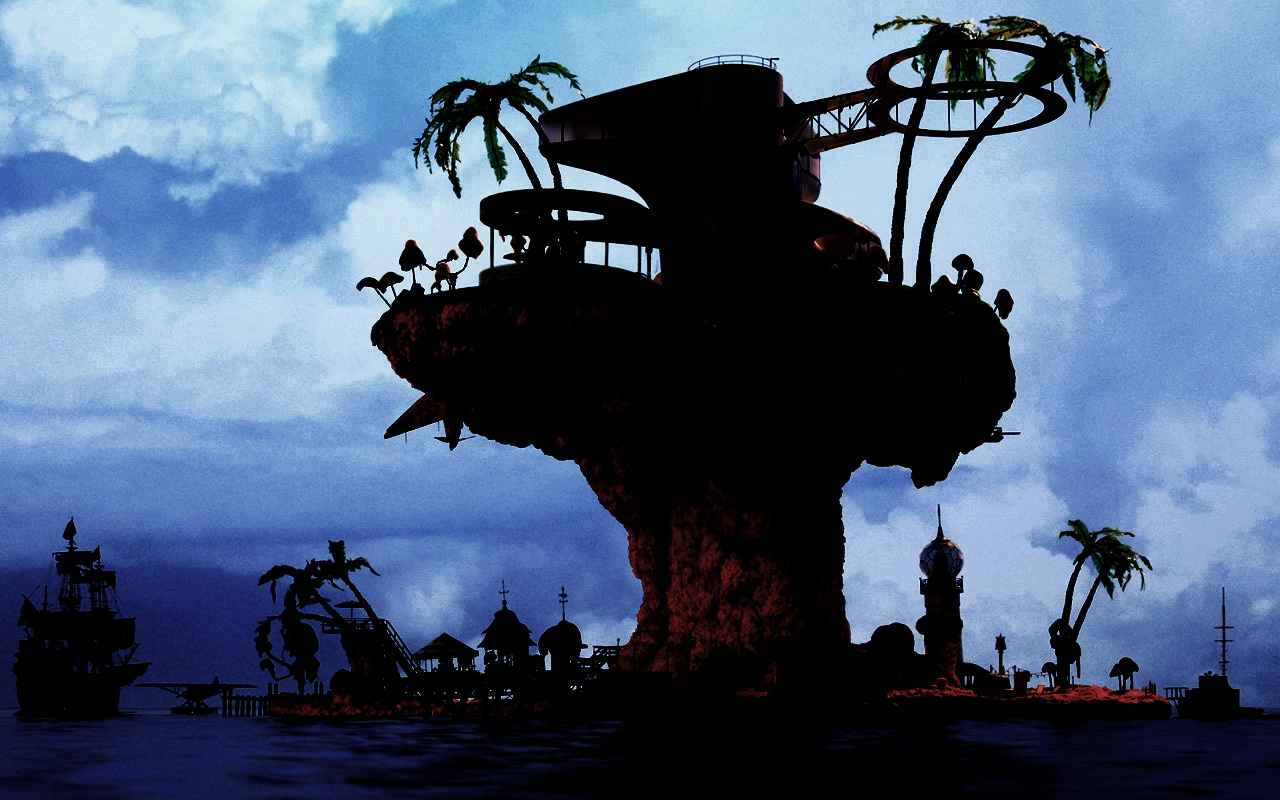 gorillaz wallpapers plastic beach - photo #15