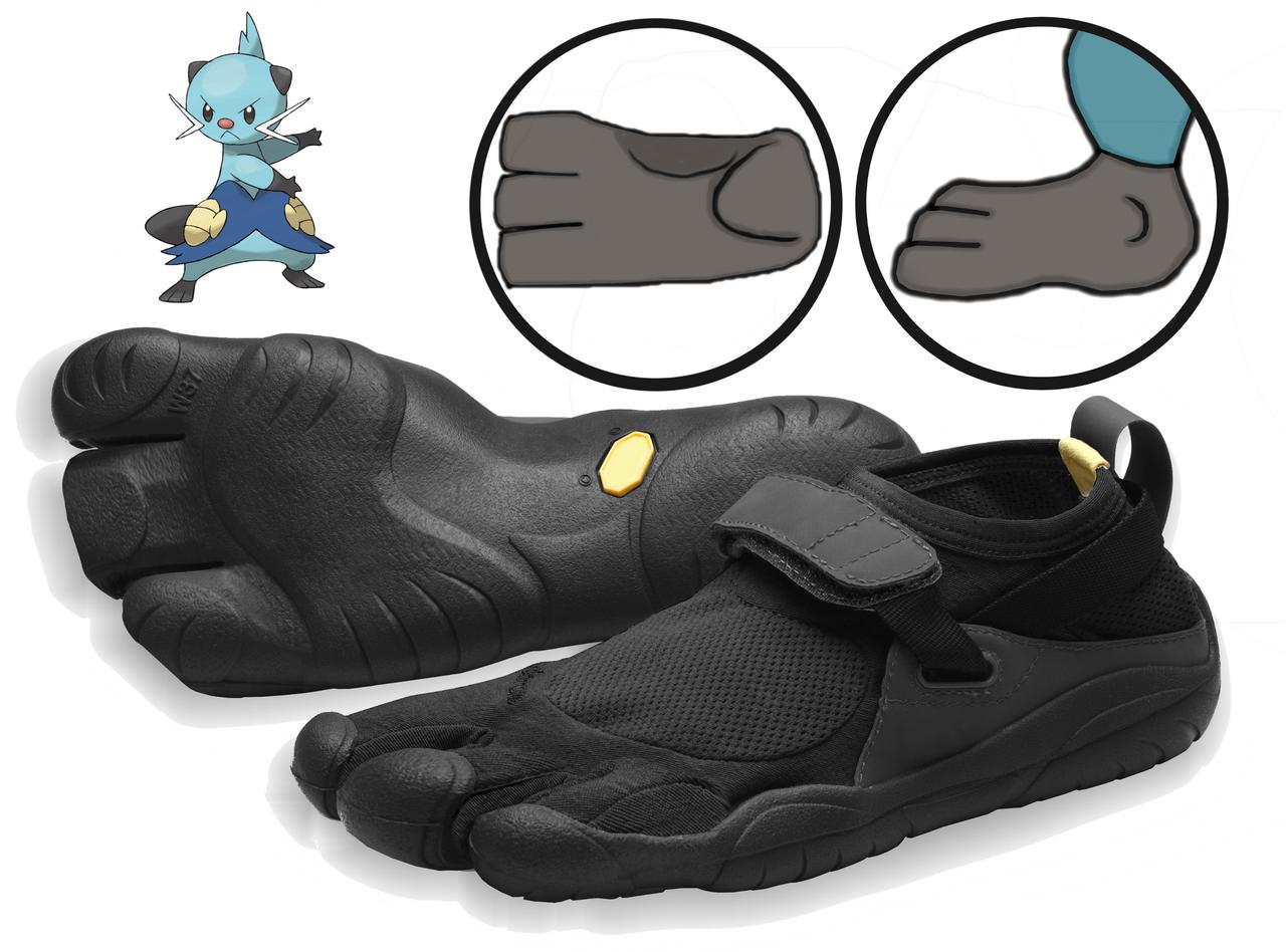 Dewott-inspired Three-Toed Footwear [photomanip.] by ...