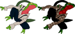 Grovyle as TARZAN 3 (transparent background) by PoKeMoN-Traceur