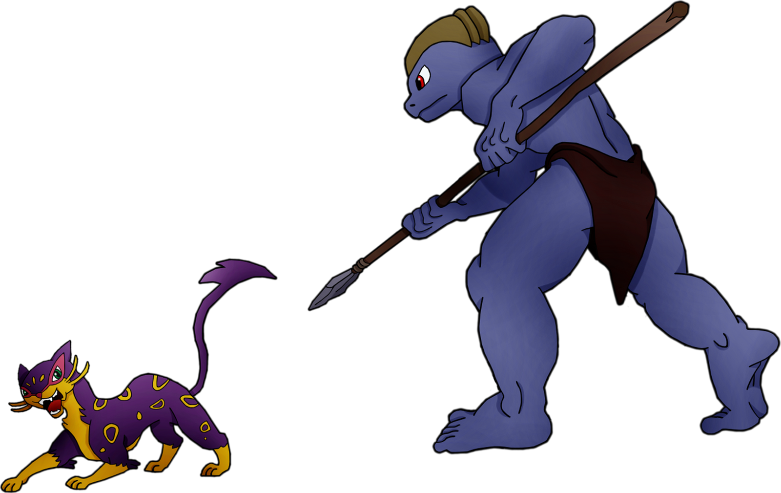 Machoke as TARZAN 2 (transparent background) by PoKeMoN-Traceur on ... Anime Fight Scene Background