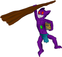 Massani Sableye hanging (transparent background) by PoKeMoN-Traceur