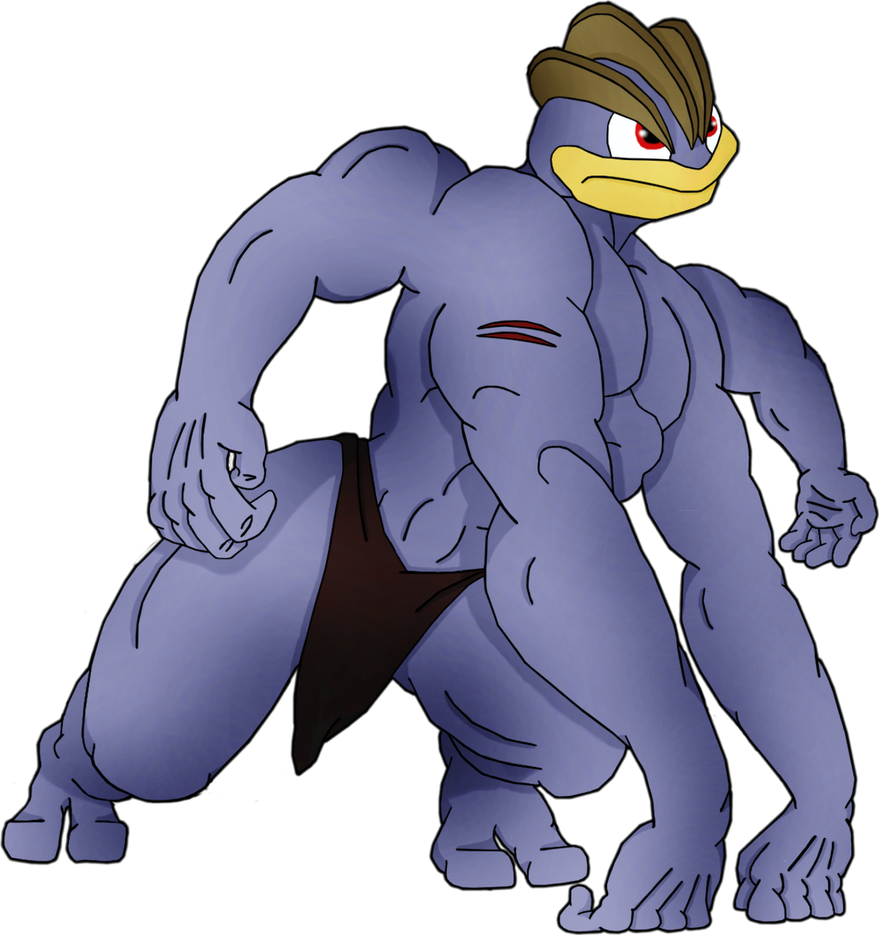 machamp as tarzan transparent background by pokemon