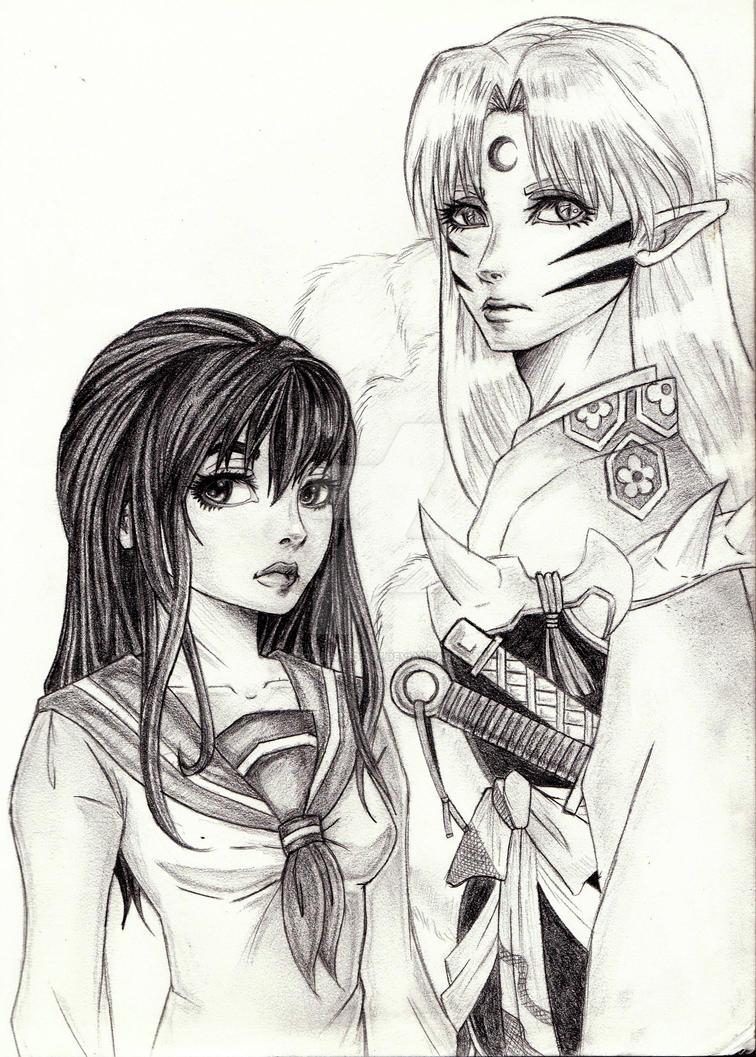 SessKag: Aristocrat and Miko by Kagome-Miko-207