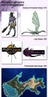 DeinonychusEmpire's ART COMMISSIONS by DeinonychusEmpire