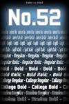 No. 52 - Free Font