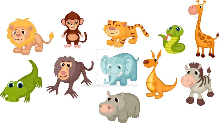 Baby Safari Animal Cake Decorations