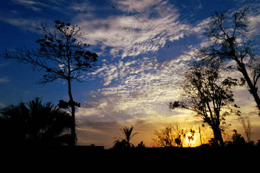 Sky and silhouettes by Usidd