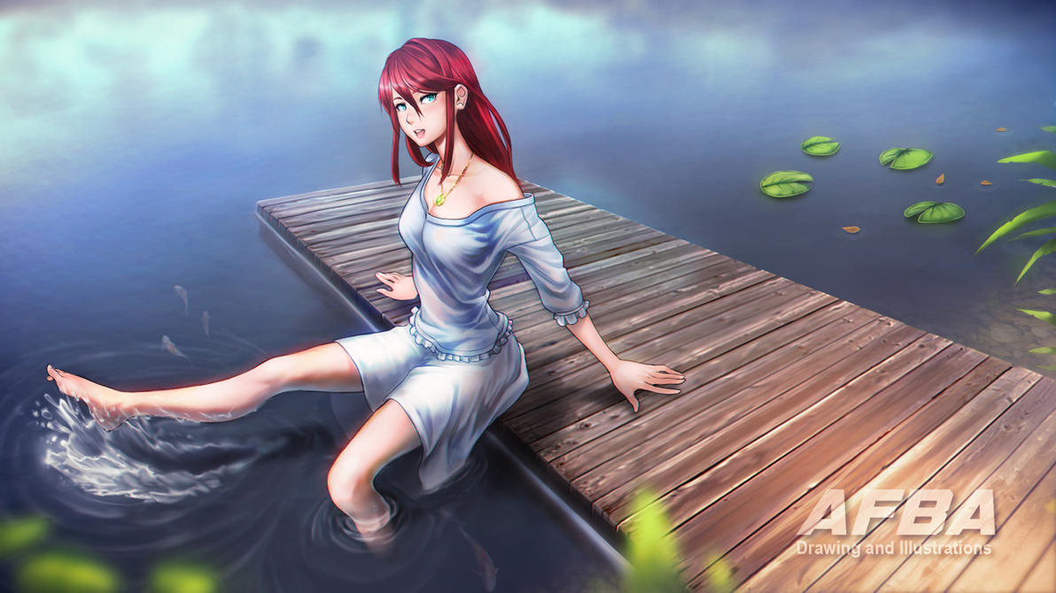 Girl by the lake by AFBA