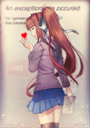 Just Monika~ DDLC by AFBA