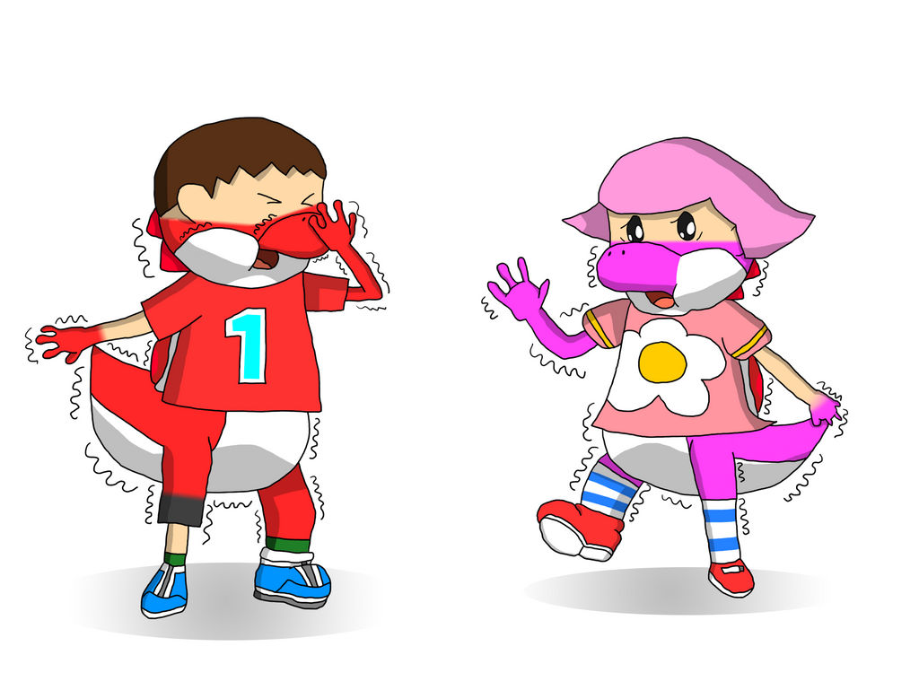 AC Villagers to Red and Pink Yoshi TF Part 2 by ...