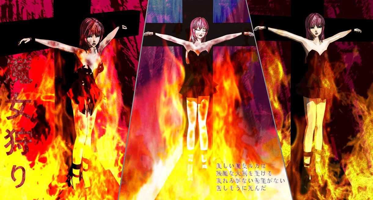 Megurine Luka to be burnt by softsai