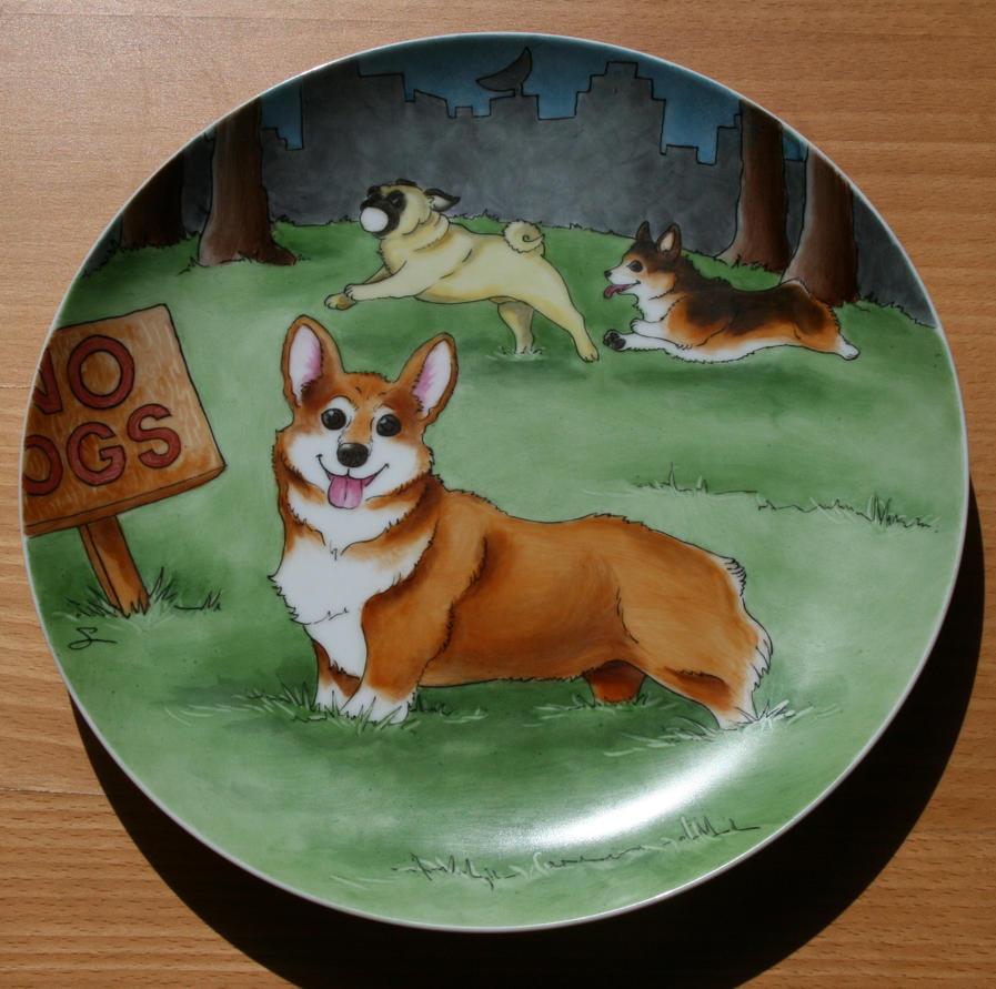 Corgi Plate by SandySchreiber