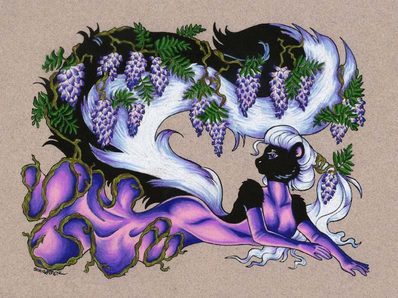 GardenParty Lady: Wisteria by SandySchreiber