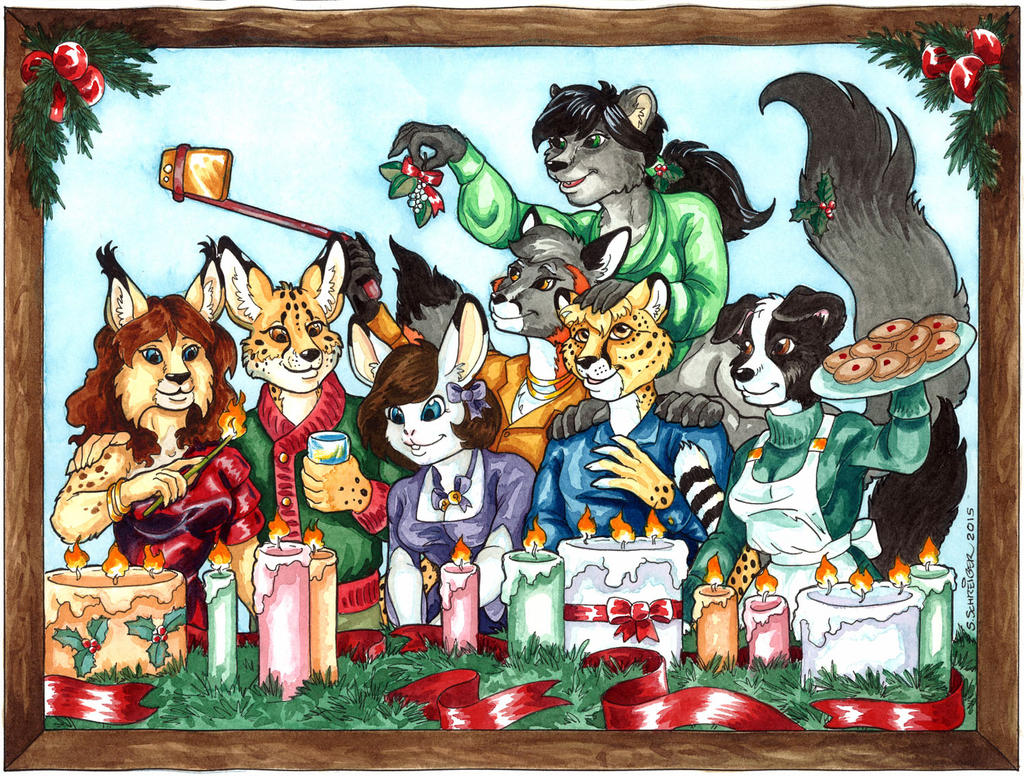 2015 Holiday Card for Commander Kitsune by SandySchreiber