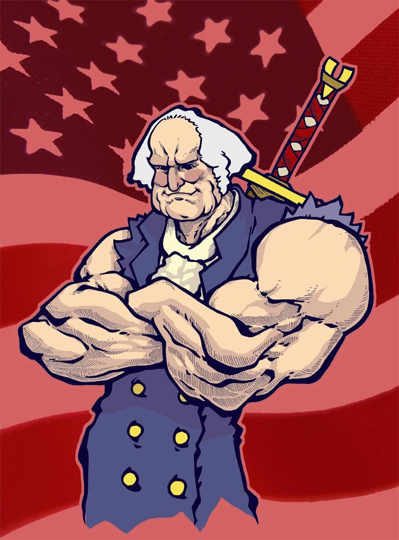 general washington, superhero by thehiddenlevel