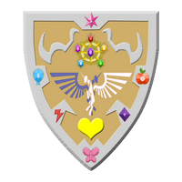 Equestrian shield by Drac116