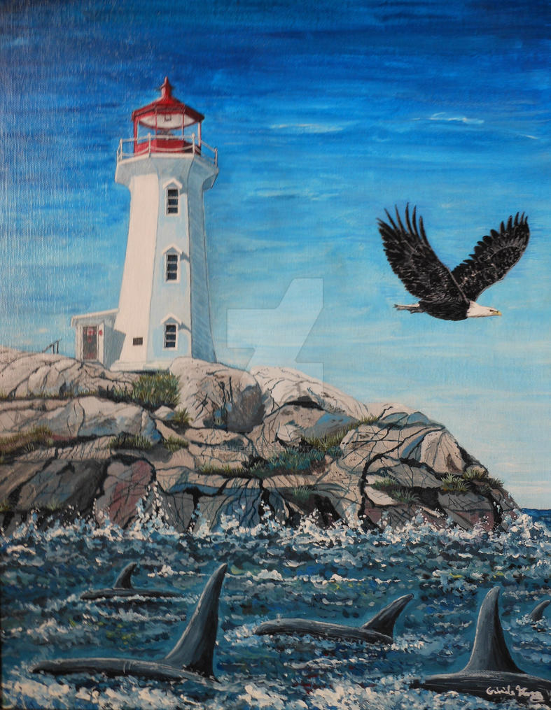 Lighthouse on the Rocks by kashmere1646 on DeviantArt
