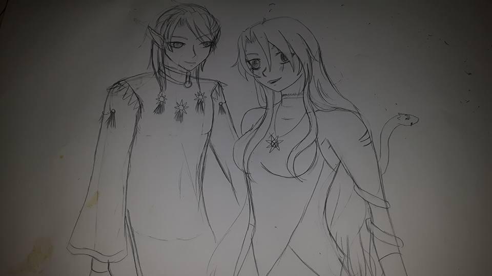 Sailor x: Sora and Sol by darkestic
