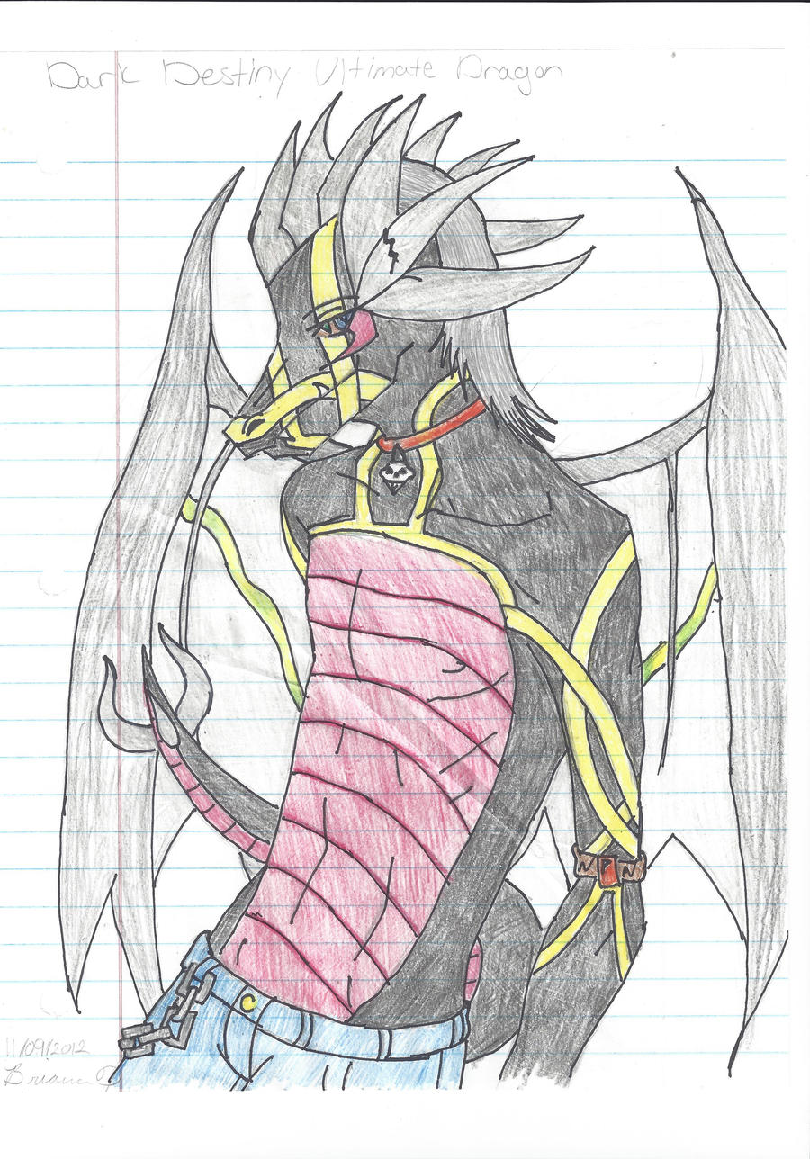 Dark destiney ultimate Dragon by KiraNightViolet