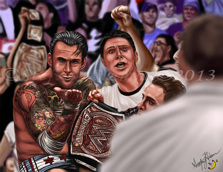 CM Punk Kiss Off by BananaWork