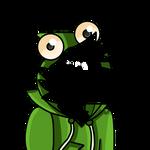 F2U frog Hoodie (Canine) line art