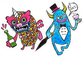Monster Roommates by RunAroundFallDown