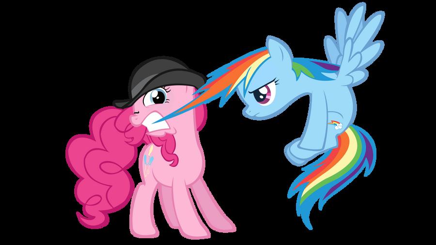 My Little Pony Rainbow Dash And Pinkie Pie Kiss