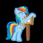 Laughing Rainbow Dash