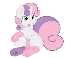 Sweetie Belle - Do you like my socks? by AB-Anarchy