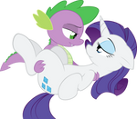 Rarity and Spike - In his dreams...