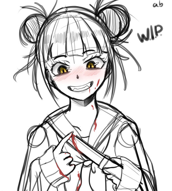 Himiko Toga WIP by AB-Anarchy