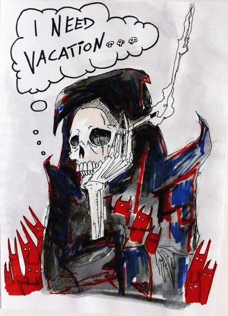 Rickman,  Bowie and Lemmy Death you need vacation by NIESAMOWITY