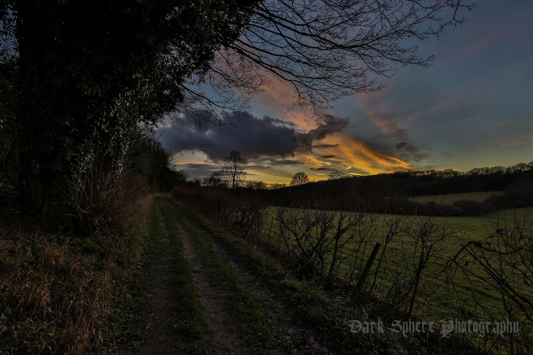 Dark country road at dusk. by jasonthe5150