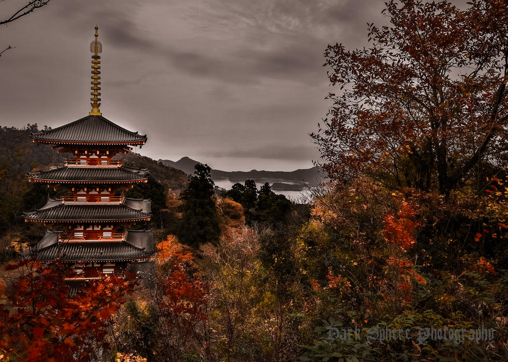 Late Autumn, Nariai-ji Temple by jasonthe5150