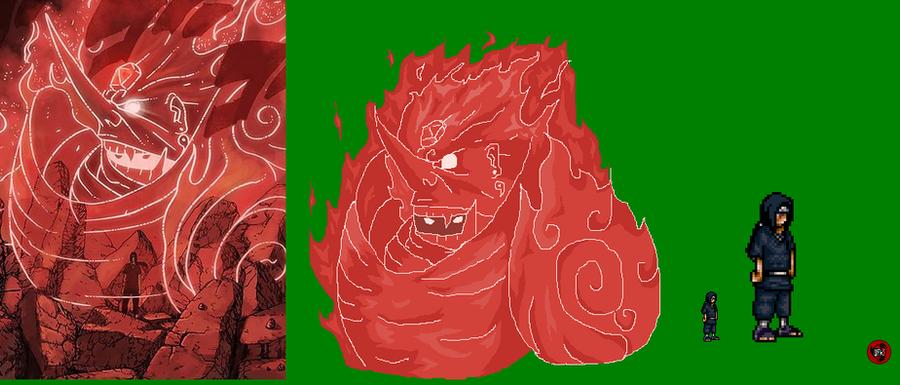 Susanoo Sprite: Itachi(Cloak Off) And Susano'o Sprite By DemonfoxKnight On