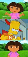Bart Simpson said no to Dora