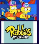 Bart  Lisa Watching Rabbids Invasion