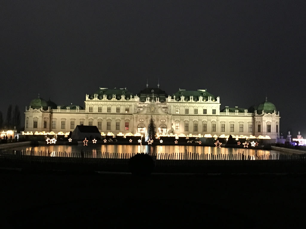 Belvedere in Vienna during Christmas time