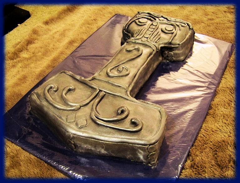 Thors Hammer Cake By DarkMindsEye On DeviantArt