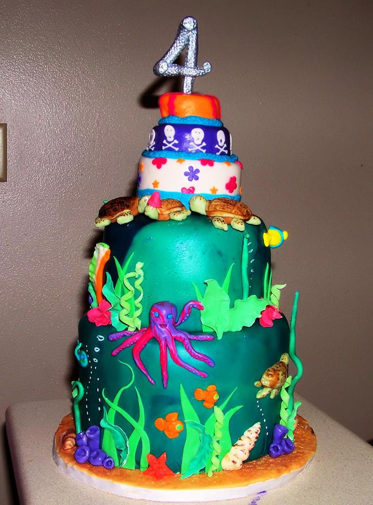 Sophias Sea Turtle Cake By Darkmindseye On Deviantart