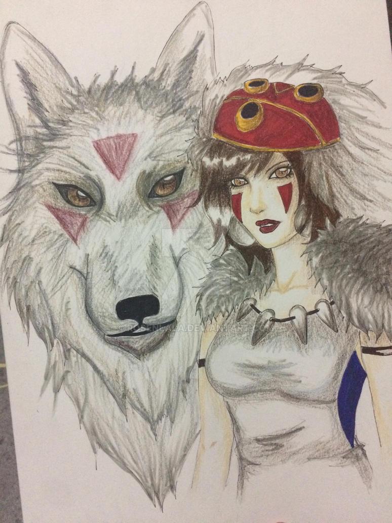 princess mononoke by rosenlala
