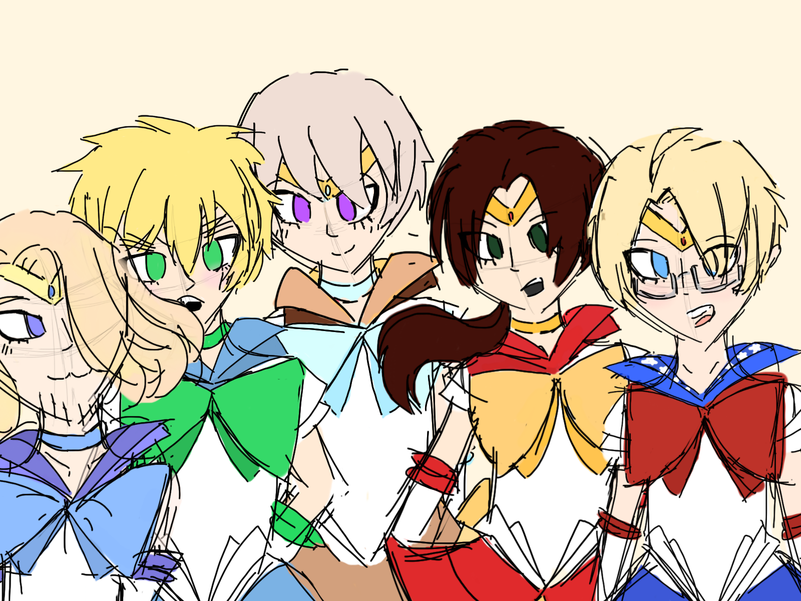 APH: Sailor Allied Scouts by united-drawer