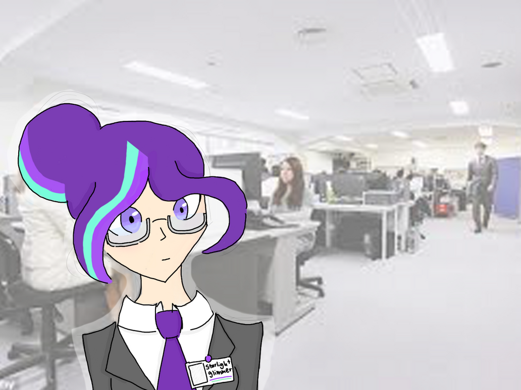 MLP FIM: Starlight Glimmer in the office by united-drawer