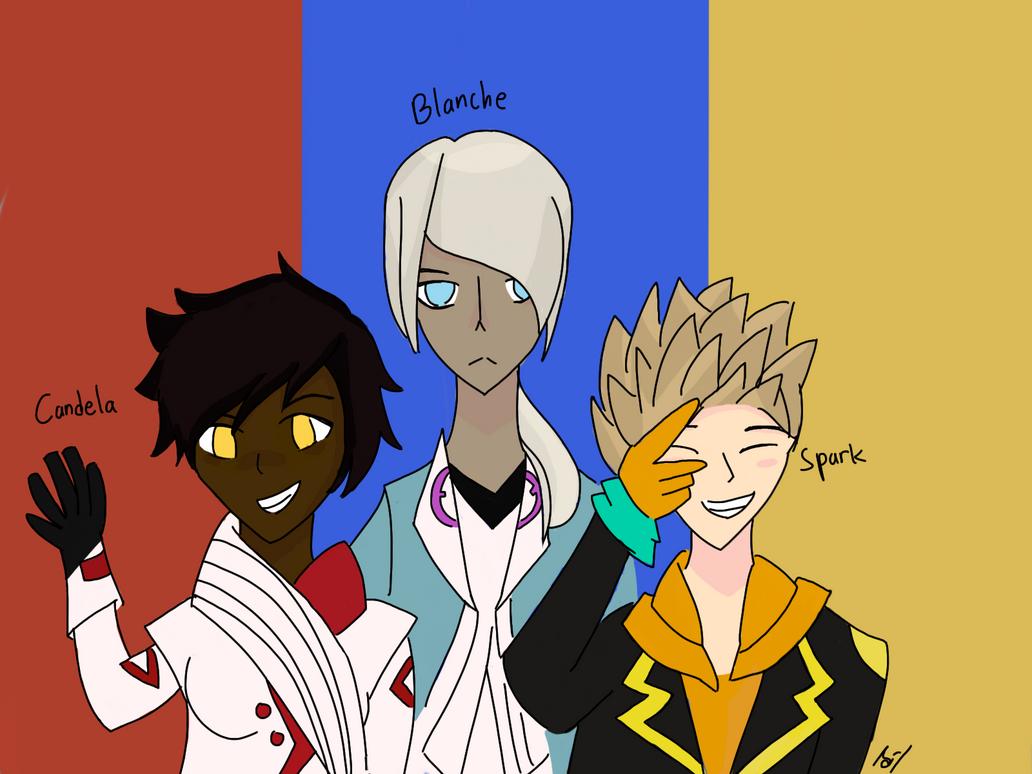 Pokemon Go:Team Leaders by united-drawer
