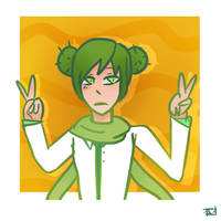 Cactus Girl (OC) by united-drawer