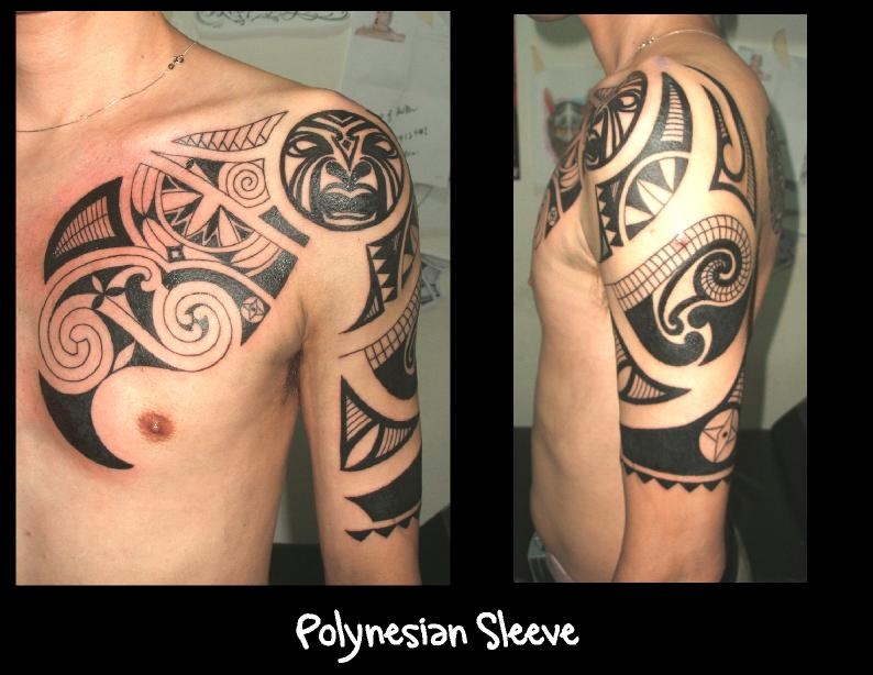 425b6484b Polynesian Sleeve Tattoo by Mechavibe on DeviantArt
