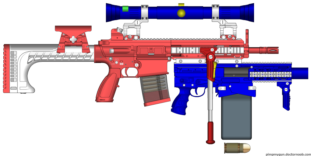 American Flag Colored HK 417 with Custom Parts by Psyk0-W01f on