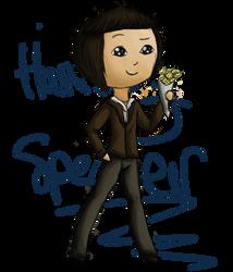 ::CP:: Harvey Specter Chibi by littleblackmariah