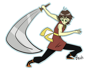 Look at my super sword